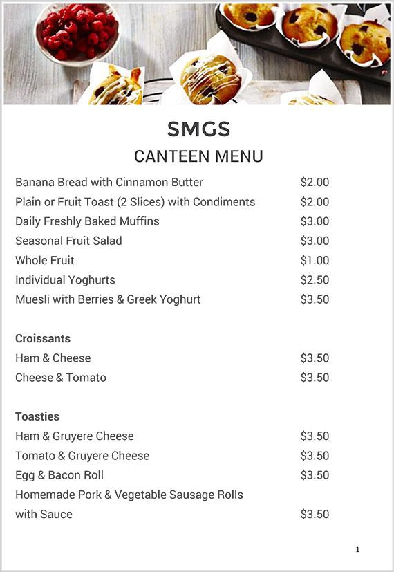 Canteen – Snowy Mountains Grammar School