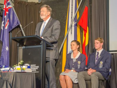Michael E Jones, Chairman, Snowy Mountains Grammar School Limited