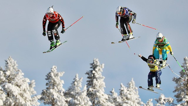 Sami racing in the Idre Fjall, Sweden World Cup. Photo: FIS Freestyle