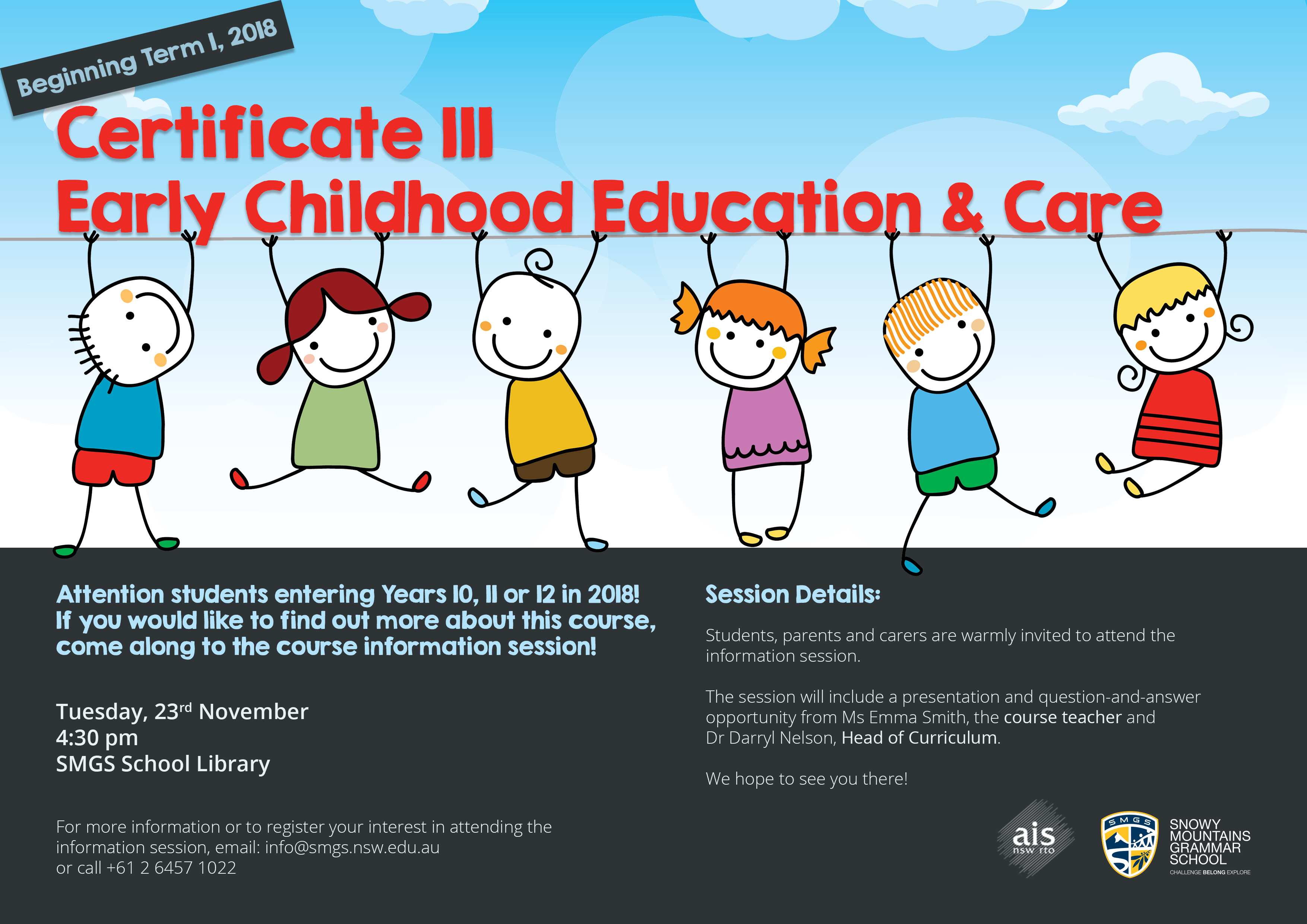 Smgs To Deliver Certificate 3 In Early Childhood Education And Care