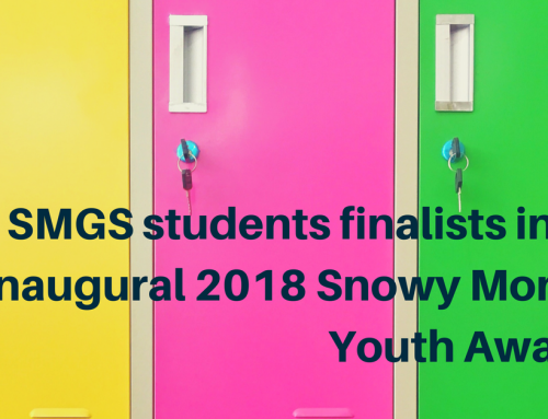 SMGS students finalists in the inaugural 2018 Snowy Monaro Youth Awards