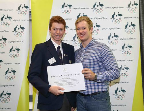 Year 12 student, Declan Burke selected as SMGS 2018 Pierre de Coubertin Award recipient