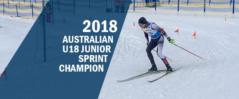 SMGS Declan Burke - 2018 2018 Australian Cross Country Skiing Junior Sprint Freestyle Champion