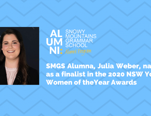 SMGS Alumna, Julia Weber, named as a finalist in the 2020 NSW Young Women of the Year Awards
