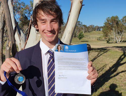 The NSW Premier's Reading Challenge: SMGS Medal Winner